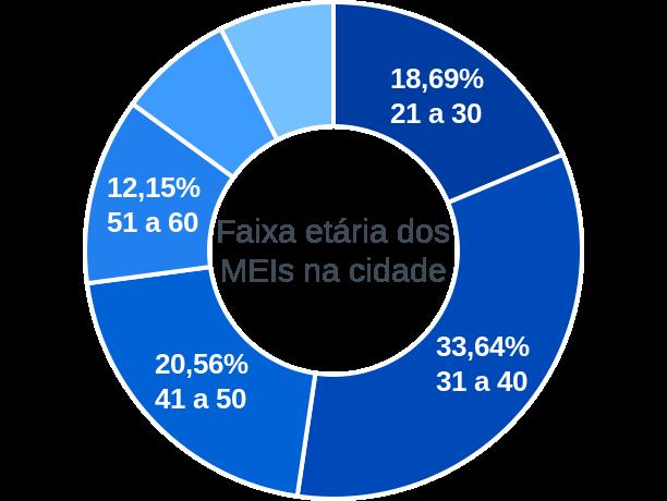Faixa etária de MEIs na cidade de Braga
