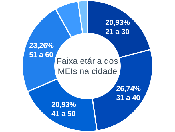 Faixa etária de MEIs na cidade de Campestre da Serra