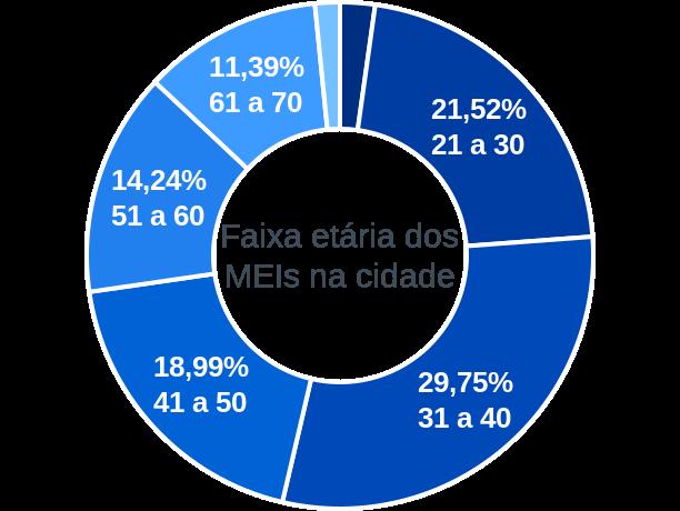 Faixa etária de MEIs na cidade de Cândido Godói