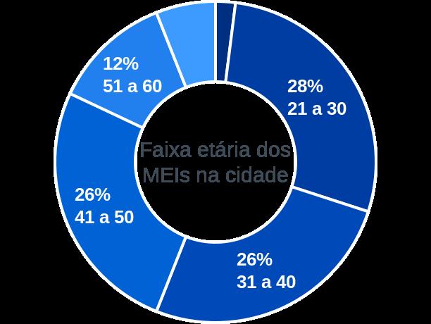 Faixa etária de MEIs na cidade de Capão Bonito do Sul