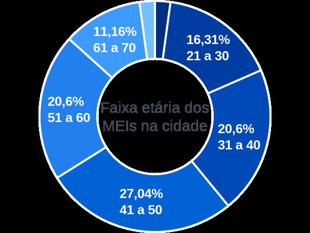 Faixa etária de MEIs na cidade de Doutor Maurício Cardoso
