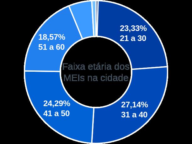 Faixa etária de MEIs na cidade de Fortaleza dos Valos
