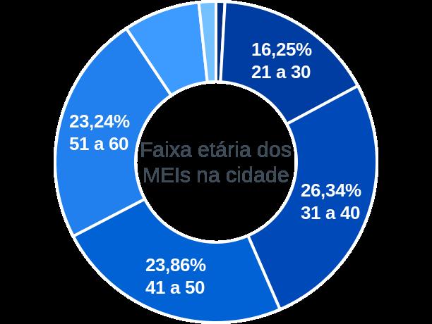 Faixa etária de MEIs na cidade de Jaguarão