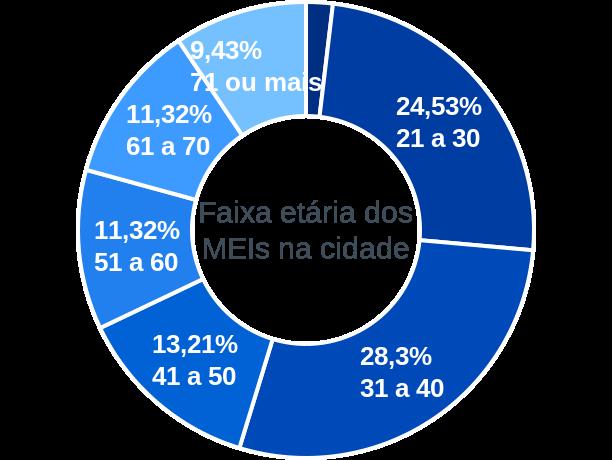 Faixa etária de MEIs na cidade de Lagoa Bonita do Sul