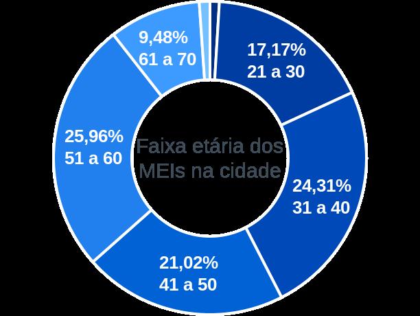 Faixa etária de MEIs na cidade de Manoel Viana