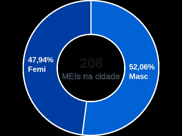 Gênero de MEIs na cidade de Maximiliano de Almeida