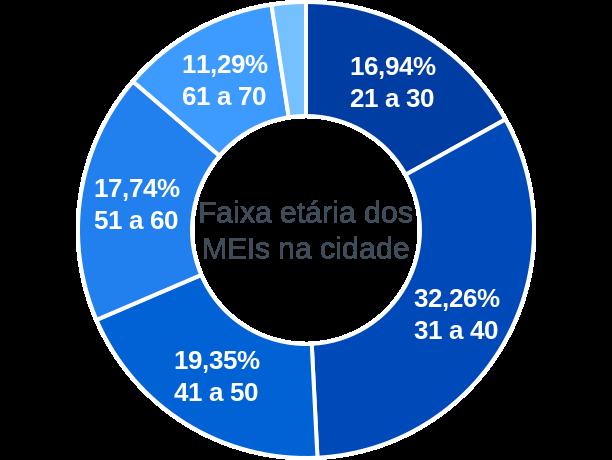 Faixa etária de MEIs na cidade de Porto Mauá