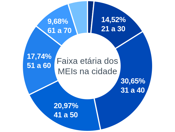 Faixa etária de MEIs na cidade de Porto Vera Cruz