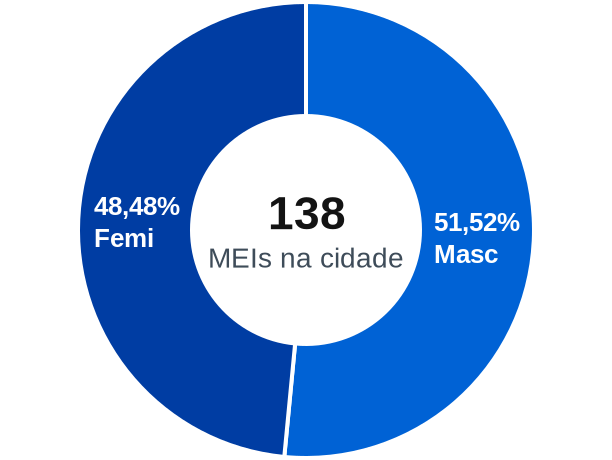 Gênero de MEIs na cidade de Presidente Lucena
