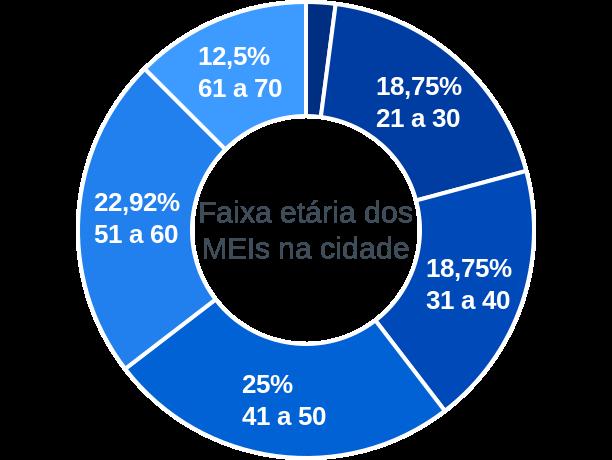 Faixa etária de MEIs na cidade de Protásio Alves