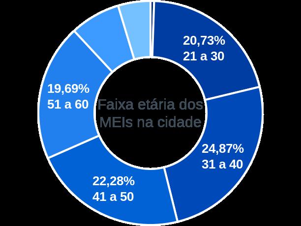 Faixa etária de MEIs na cidade de Rondinha