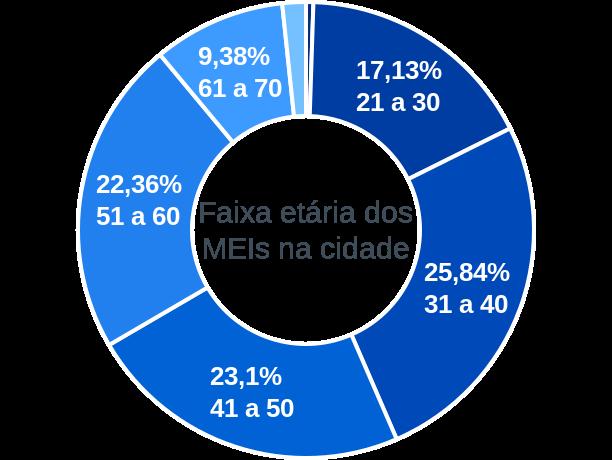 Faixa etária de MEIs na cidade de Santa Vitória do Palmar