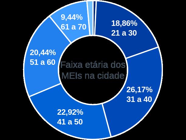 Faixa etária de MEIs na cidade de São Borja