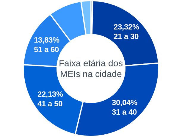 Faixa etária de MEIs na cidade de São João da Urtiga