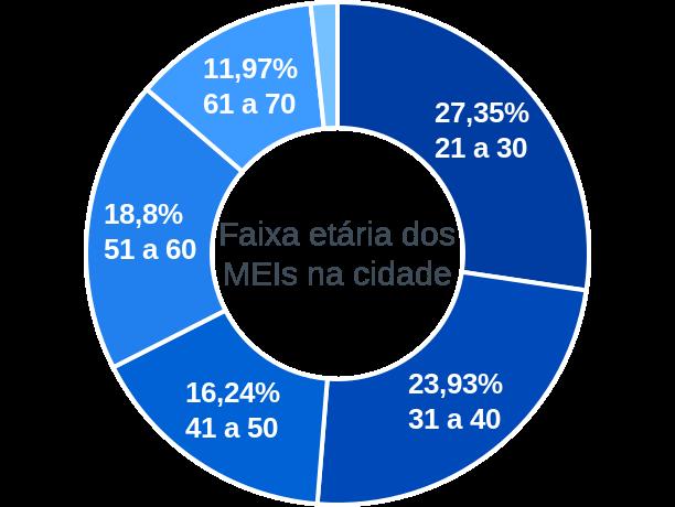 Faixa etária de MEIs na cidade de São Jorge
