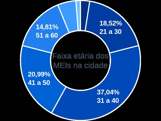 Faixa etária de MEIs na cidade de São José do Herval