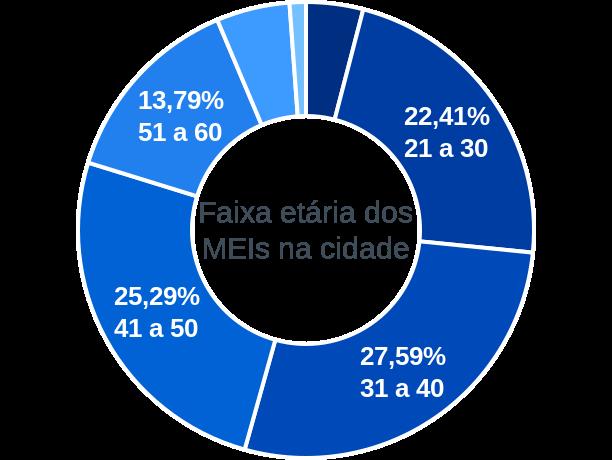 Faixa etária de MEIs na cidade de São José do Hortêncio