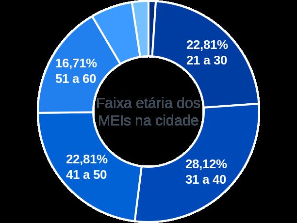 Faixa etária de MEIs na cidade de São José do Ouro