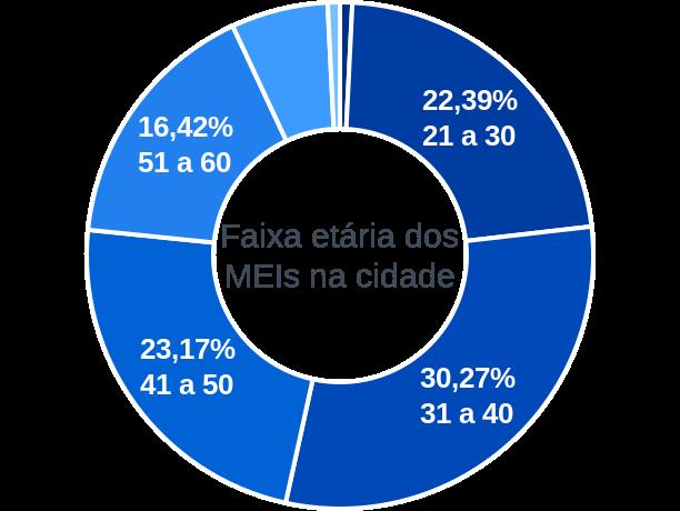 Faixa etária de MEIs na cidade de São Leopoldo