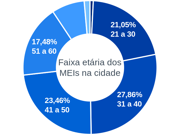 Faixa etária de MEIs na cidade de São Luiz Gonzaga