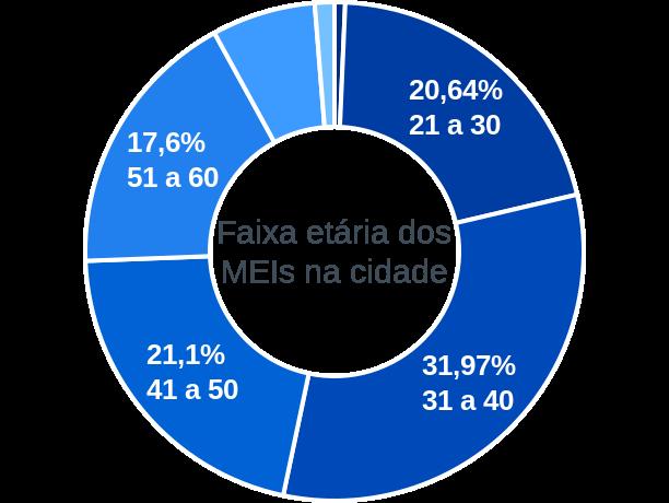 Faixa etária de MEIs na cidade de São Sebastião do Caí