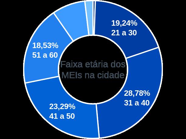 Faixa etária de MEIs na cidade de São Sepé