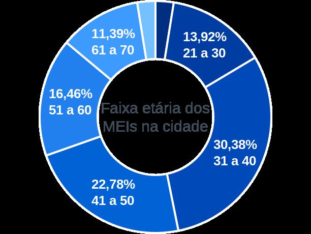 Faixa etária de MEIs na cidade de São Valentim do Sul