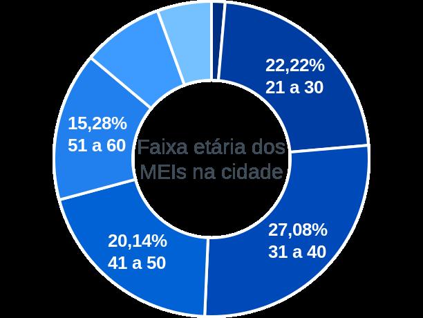 Faixa etária de MEIs na cidade de São Valentim