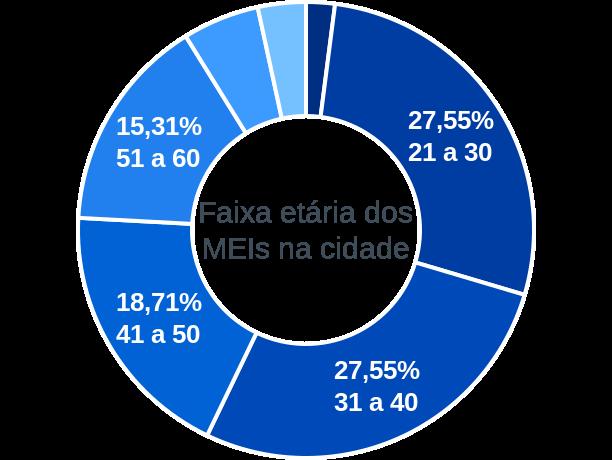 Faixa etária de MEIs na cidade de Sertão