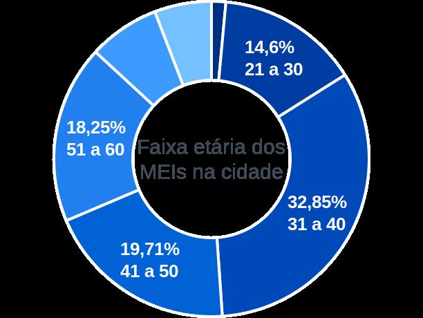 Faixa etária de MEIs na cidade de Silveira Martins