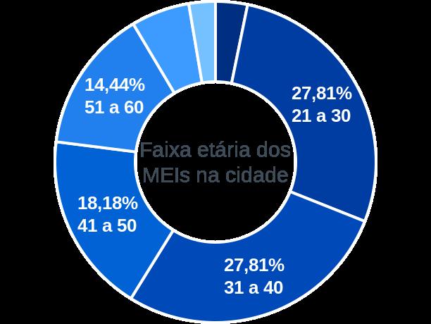Faixa etária de MEIs na cidade de Vila Maria