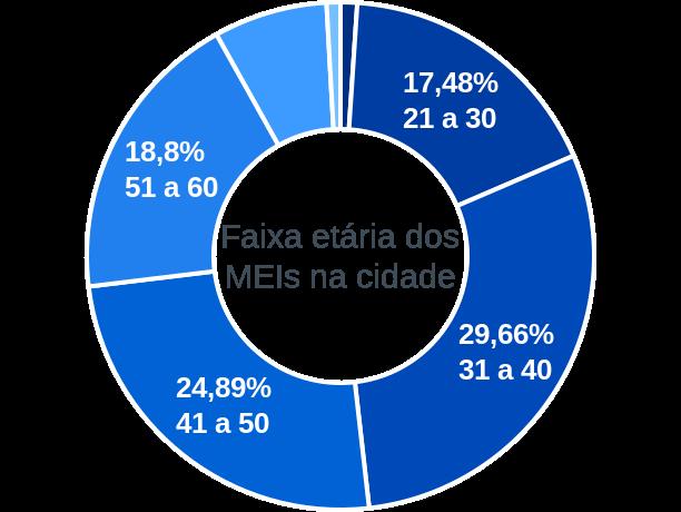 Faixa etária de MEIs na cidade de Balneário Arroio do Silva