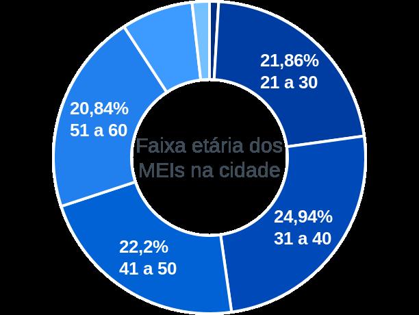 Faixa etária de MEIs na cidade de Balneário Barra do Sul