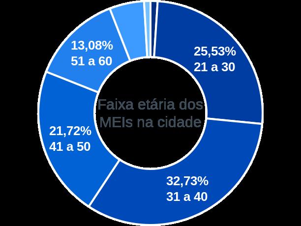 Faixa etária de MEIs na cidade de Balneário Camboriú
