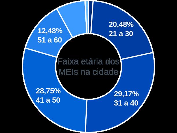 Faixa etária de MEIs na cidade de Campo Alegre