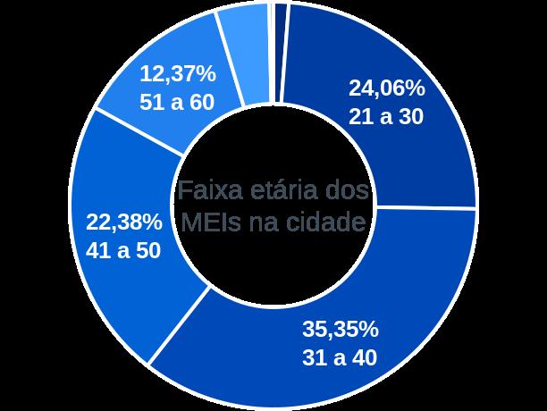 Faixa etária de MEIs na cidade de Capivari de Baixo