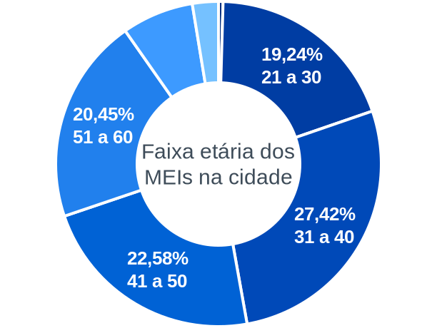 Faixa etária de MEIs na cidade de Cunha Porã