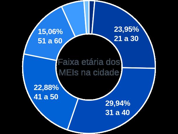 Faixa etária de MEIs na cidade de Curitibanos