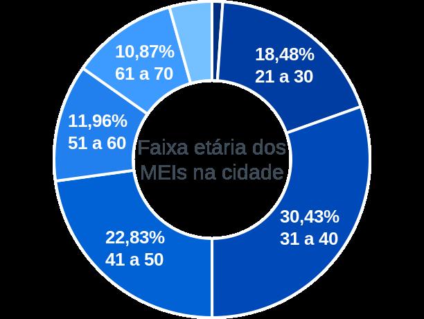 Faixa etária de MEIs na cidade de Entre Rios