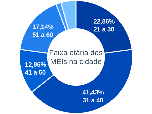 Faixa etária de MEIs na cidade de Flor do Sertão