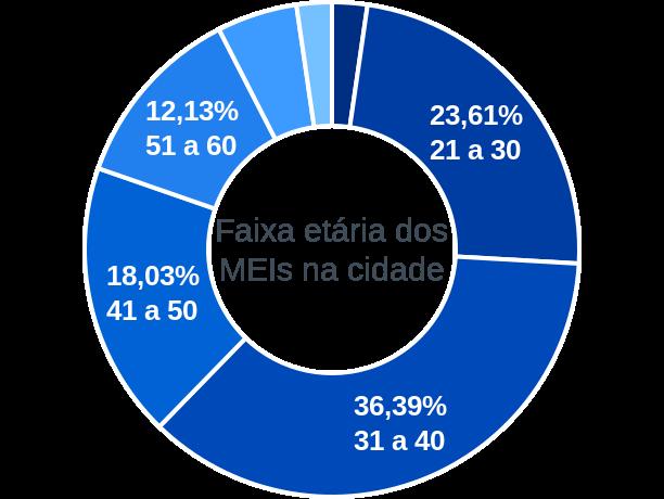 Faixa etária de MEIs na cidade de Grão-Pará
