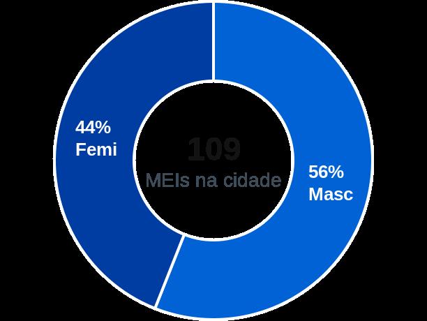 Gênero de MEIs na cidade de Mirim Doce