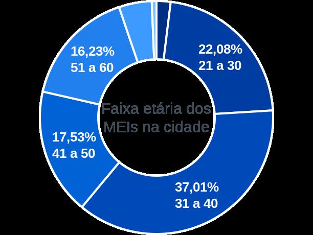 Faixa etária de MEIs na cidade de Planalto Alegre