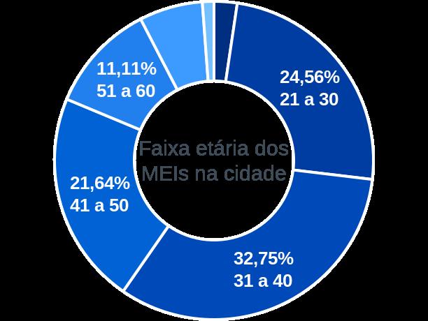 Faixa etária de MEIs na cidade de Ponte Alta do Norte