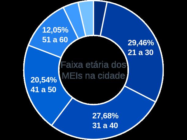 Faixa etária de MEIs na cidade de Ponte Alta