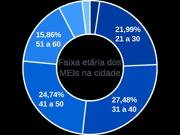 Faixa etária de MEIs na cidade de Rio do Oeste