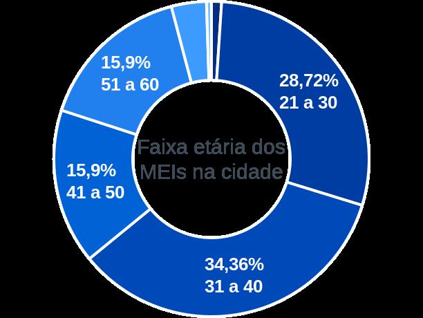 Faixa etária de MEIs na cidade de Rio Fortuna