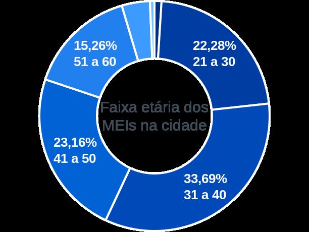 Faixa etária de MEIs na cidade de São João Batista