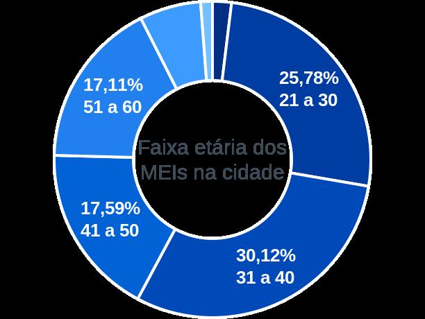 Faixa etária de MEIs na cidade de São João do Oeste