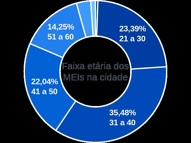 Faixa etária de MEIs na cidade de São João do Sul